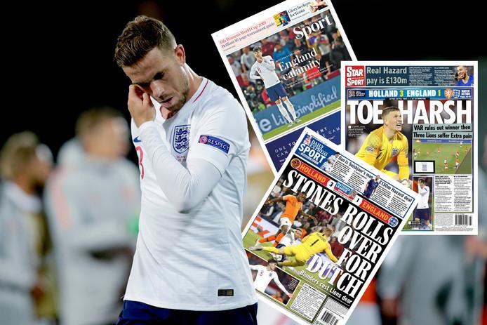 Jordan Henderson baalt, net als de Engelse media.