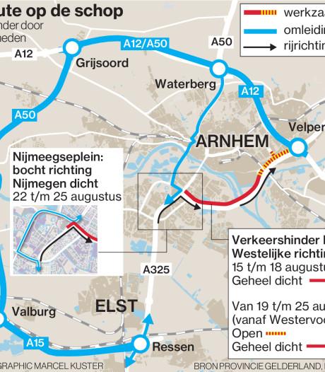 Ochtend vol vertraging voor verkeer rond Arnhem, fileleed op A12 door gestrande trucks