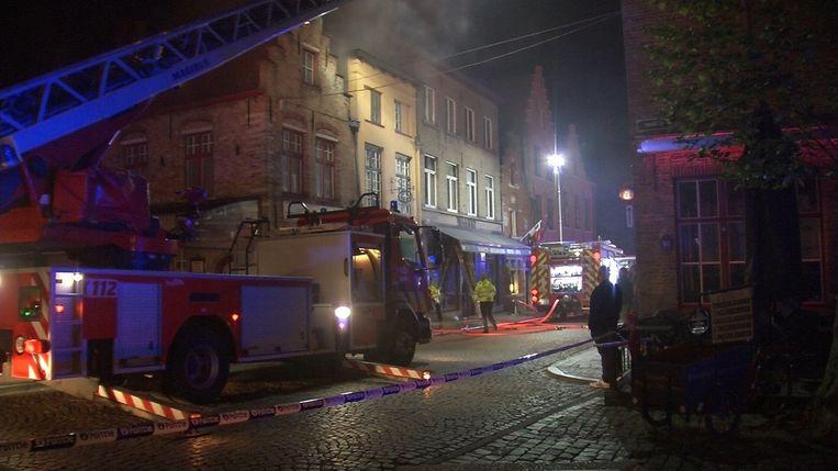 De brand bij restaurant 't Lammetje.