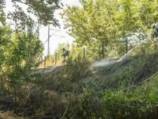 Bermbranden in Schalkwijk vertragen treinverkeer