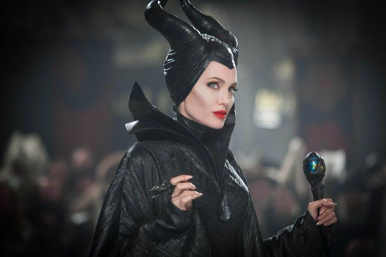 Angelina Jolie in 'Maleficent', de fantasyfilm in 3D die is geïnspireerd op Doornroosje.