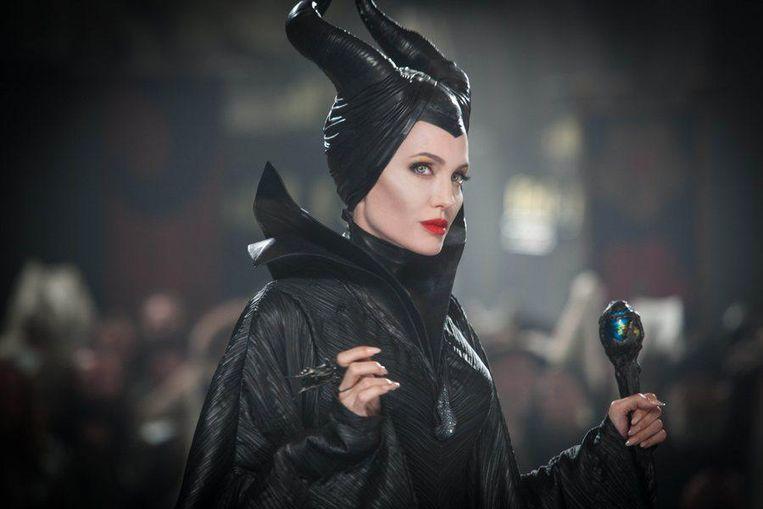 Angelina Jolie in 'Maleficent', de fantasyfilm in 3D die is geïnspireerd op Doornroosje.
