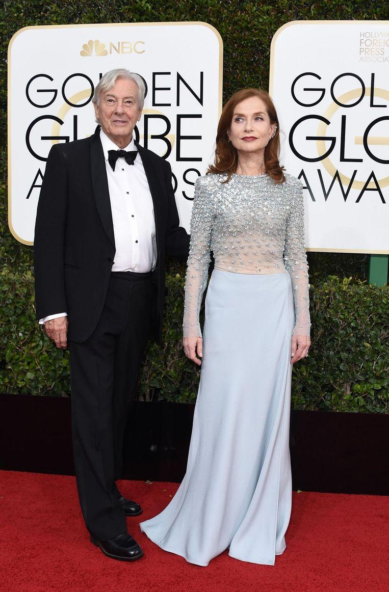 Regisseur Paul Verhoeven en actrice Isabelle Huppert. Beeld afp