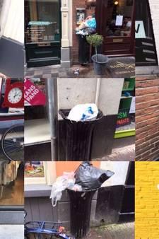 Volle afvalbak in Deventer nu zelf bij het oud vuil