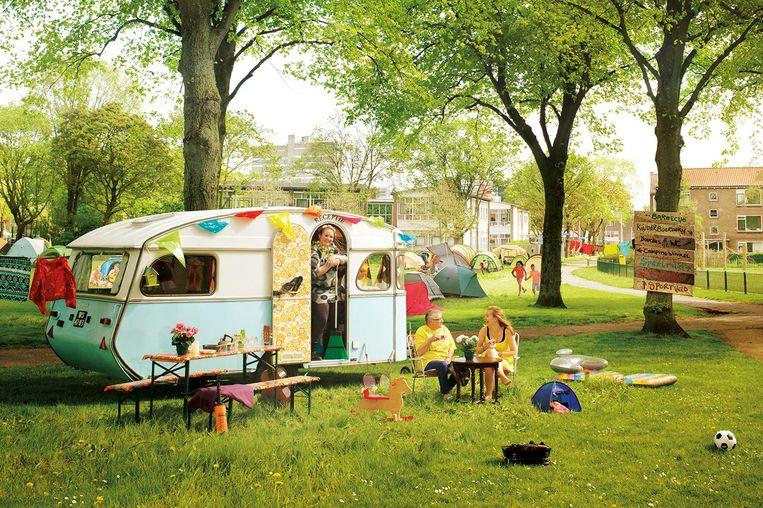 Leer je buurtbewoners beter kennen op de buurtcamping Beeld Ernst Yperlaan