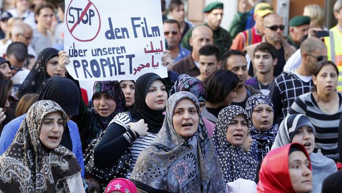 Moslimprotest Freiburg.