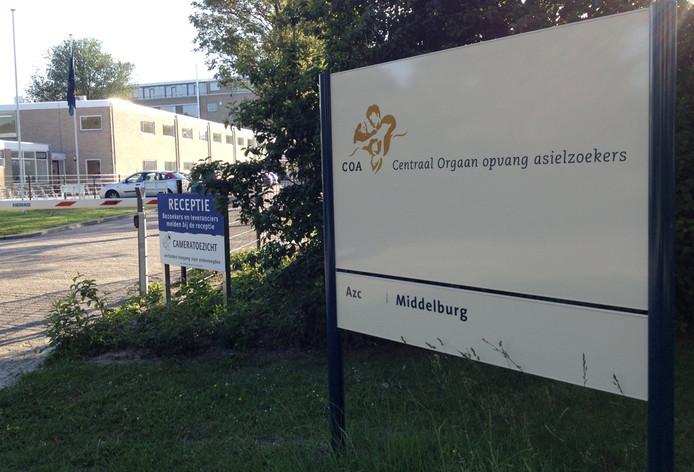 De entree van het asielzoekerscentrum in Middelburg.