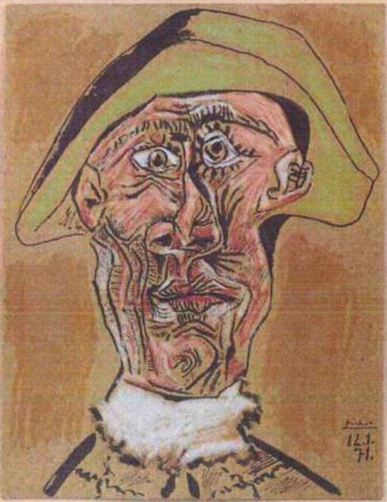 Een van de gestolen schilderijen: 'Harlequin Head' door Pablo Picasso. Beeld AP