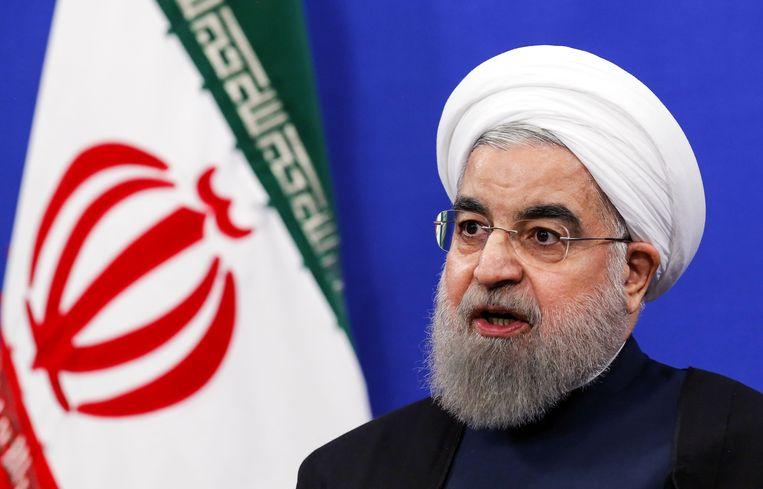 Iraanse president Hassan Rohani.