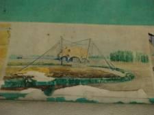 Stadsschoon Arnhem: bescherm plafondschilderingen Sonsbeek '93 in viaduct