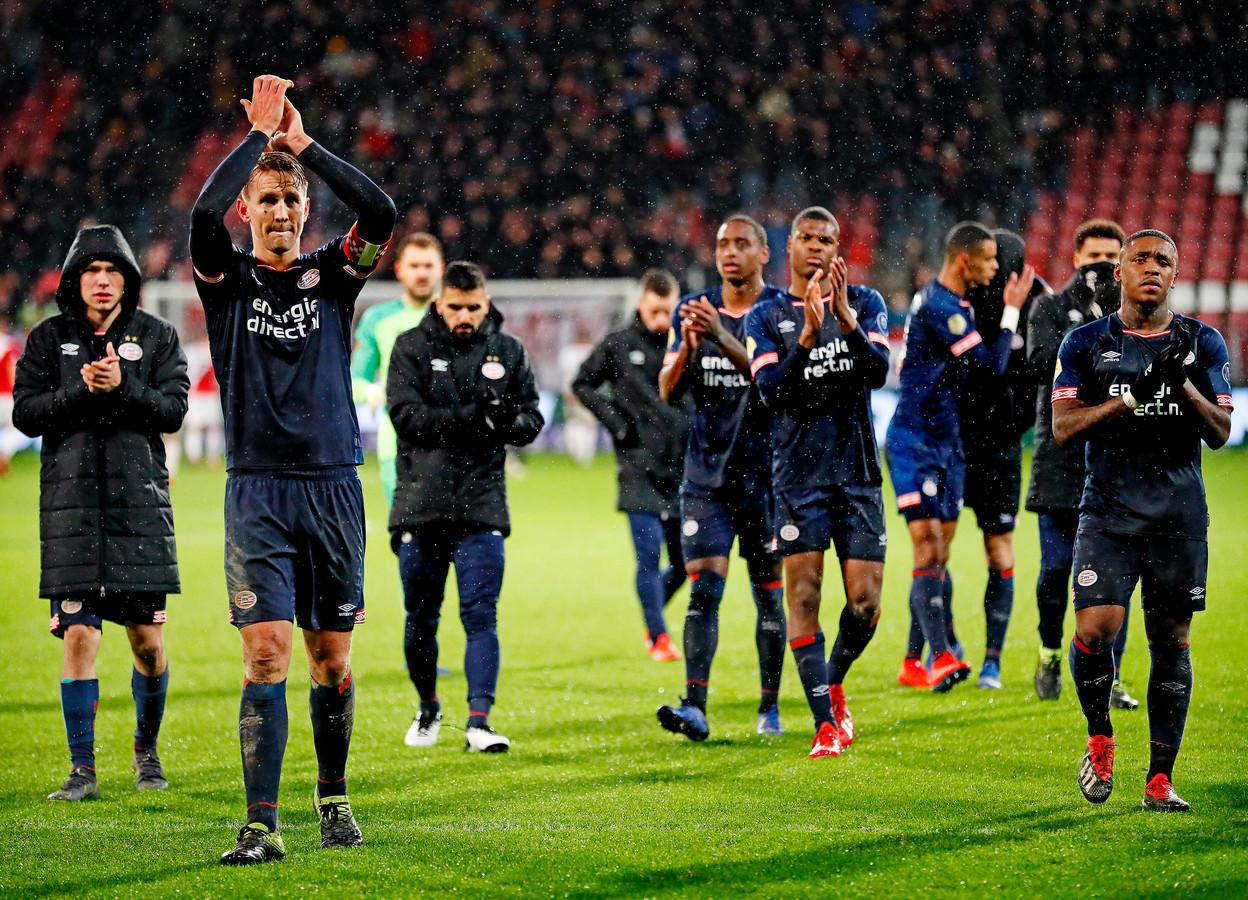 De meeste PSV'ers waren gematigd tevreden na de 2-2 in Utrecht.