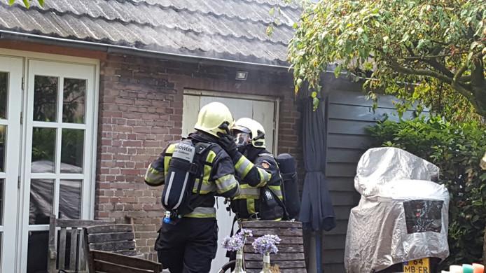 In een woonboerderij op de Stokkelen in Eersel heeft brand gewoed.