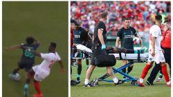 """Verdediger van Sevilla trapt Liverpool-youngster van het veld in oefenmatch: """"Dit is een schande"""""""