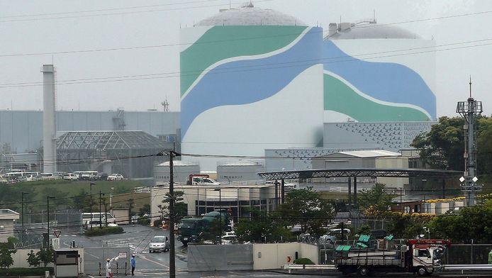 De kernreactor in Sendai.