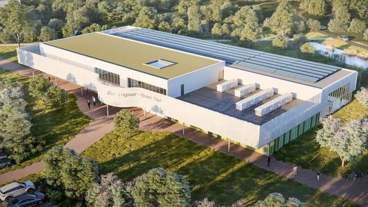 Het nieuwe zwembad dat Tiel bouwt, artist impression van Wind Design en Build