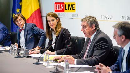 """LIVE. Wilmès optimistisch op persconferentie Veiligheidsraad: """"Situatie beter dan verwacht"""" - Bubbel uitgebreid naar tien personen per week, maar """"hou je aan zes gouden regels"""""""