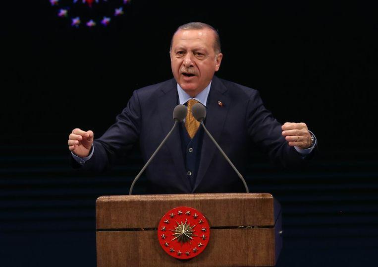 """Erdogan: """"Amerika is bezig met het vormen van een terreurleger."""""""