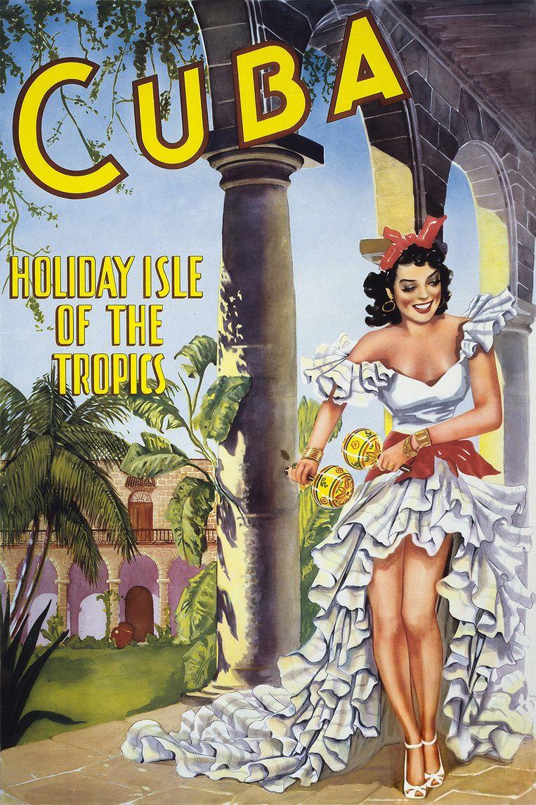 Affiche uit de jaren vijftig. Beeld -