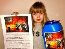 Marjolein uit groep 6 maakte scholen in Rheden enthousiast voor actie voor Australië