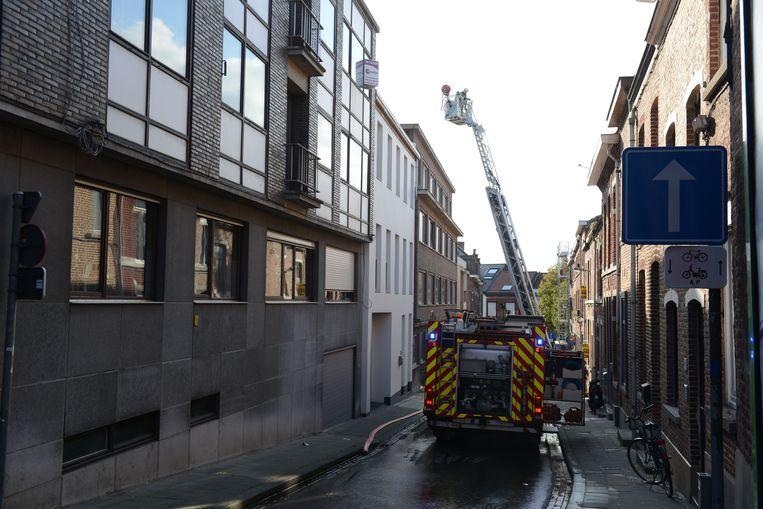 Brandweer Leuven kwam met een ladderwagen ter plaatse.