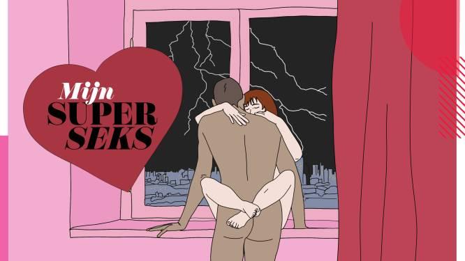 """Milan (25) en Ella (22) hebben stormachtige seks op de zesde verdieping: """"Ik duwde haar tegen het raam terwijl het buiten onweerde. Wat een seks. Wat een uitzicht. Dat maak je maar een keer mee"""""""