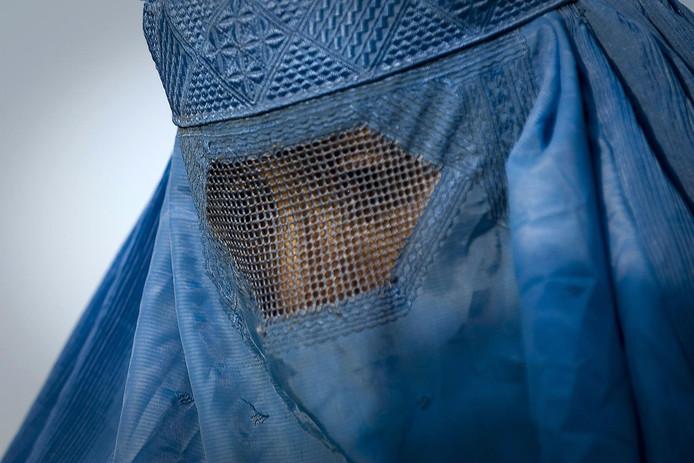 2009-10-31 00:00:00 Een vrouw met boerka.