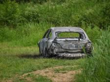 Auto uitgebrand op weiland in Bergharen, vermoedens van brandstichting
