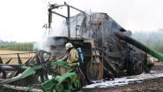 Pikdorser schiet in brand in Brustem