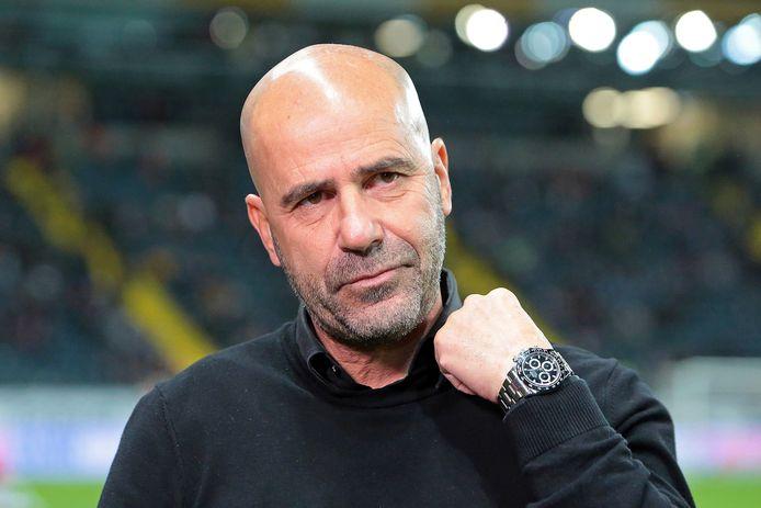 De vreugde spat niet bepaald van het gezicht van Peter Bosz na het duel met Eintracht Frankfurt.