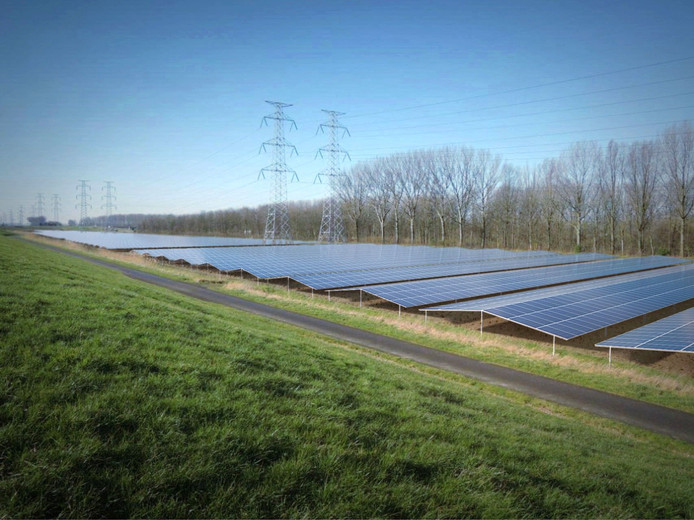 Artist impression van het Solarpark Scaldia.