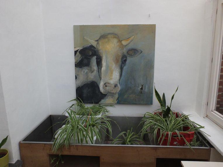 In het Groenhuis zijn ook kunstwerken van Art@De Pinte.