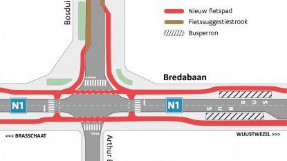 Werken aan kruispunten Bredabaan starten weer op