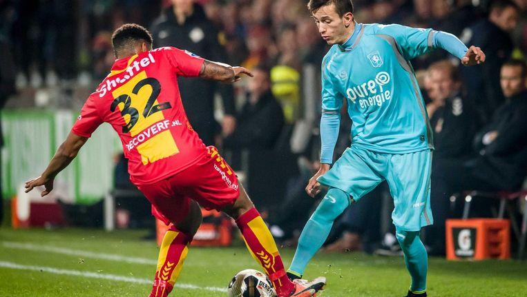 FC Twente is weer enigszins opgekrabbeld. Het doel werd voor het eerst dit seizoen droog gehouden. Beeld anp