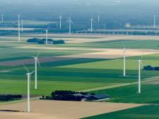 Geen gezicht: weilanden vol met windmolens