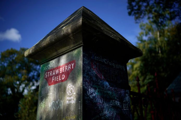 De originele poort van Strawberry Field.