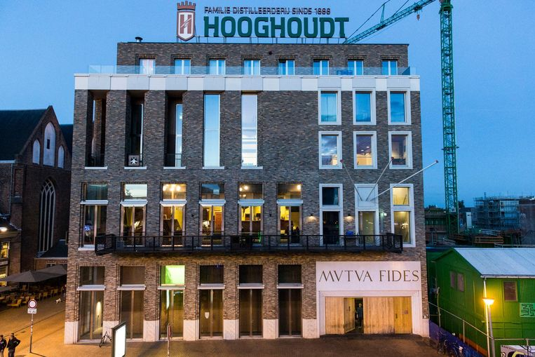 De voorkant van het Vindicat-gebouw op de Grote Markt in Groningen. Beeld anp