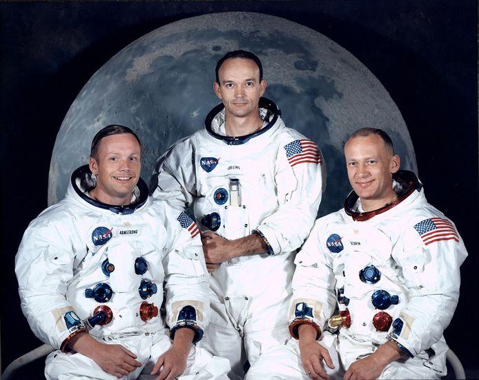 Neil Armstrong, Michael Collins en Buzz Aldrin.