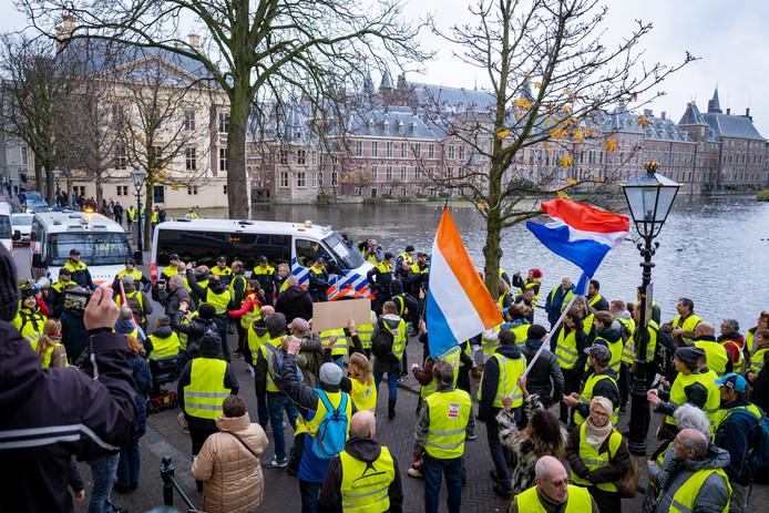 Vorige week bij het protest van de gele hesjes