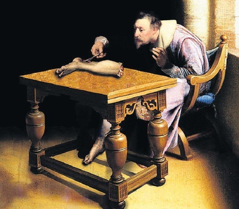 De Nederlandse anatoom Philip Verheyen beschreef als eerste het fenomeen fantoompijn. Schilder onbekend. Beeld