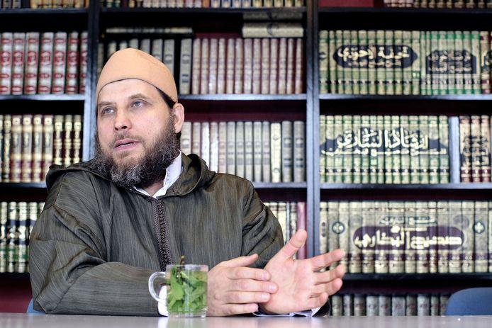 De Syrische imam Sjeik Fawaz Jneid (in 2008).