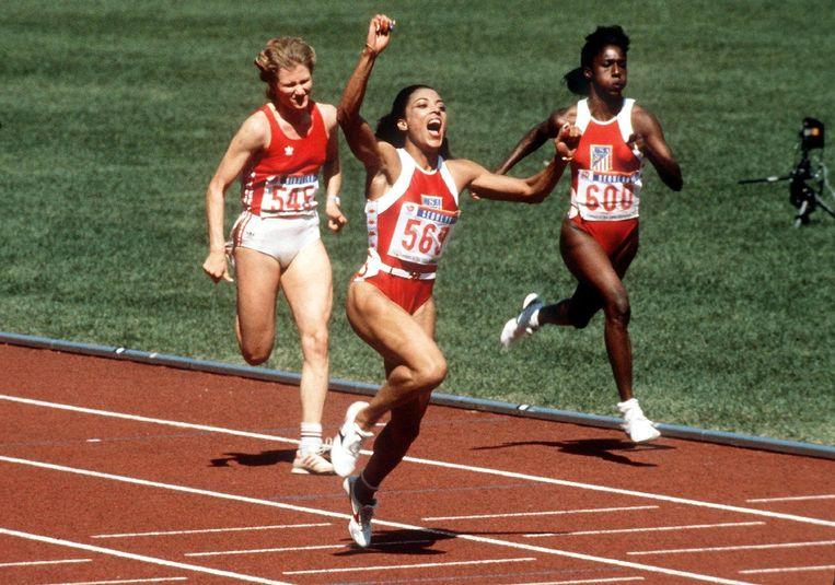 In 1988 greep Florence Griffith-Joyner drie keer olympisch goud in Seoul: op de 100m, 200m en 4x100m.
