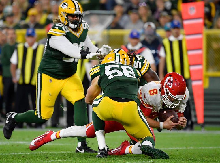 Seizoensstart American football: Green Bay Packers tegen Kansas City Chiefs.  Beeld Getty Images