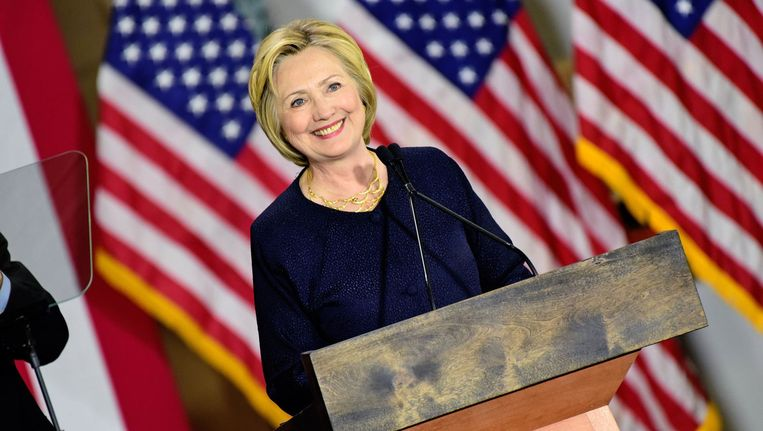 Hillary Clinton in Cleveland, Ohio. Beeld photo_news