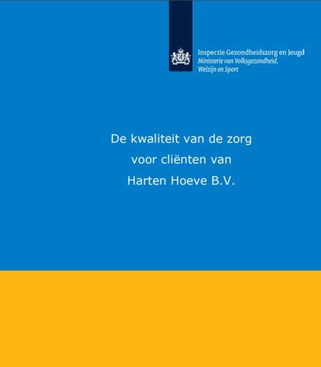 Gemeenten verwijzen geen cliënten meer naar Hartenhoeve na kritisch rapport Inspectie