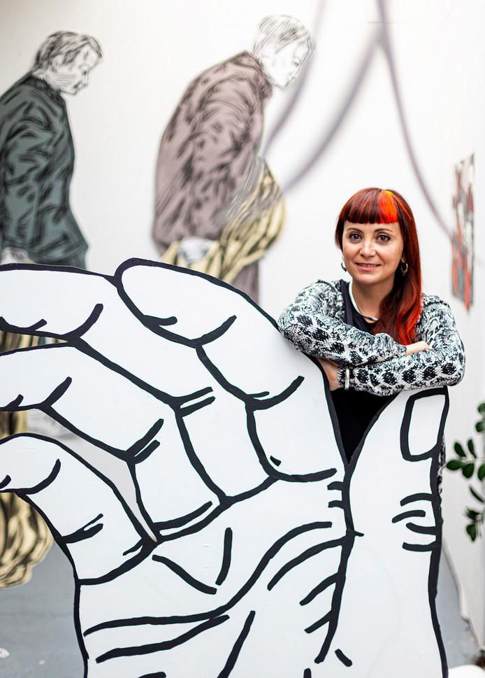 Susanna Inglada laat zich inspireren door de actualiteit en door de historie in Dordrecht.