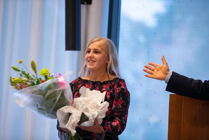 Linde van Dijk zwaaide woensdag af als raadslid voor Gemeente Belang Kampen.