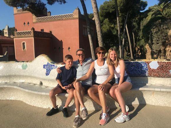 Willy Sommers op vakantie met zijn gezin