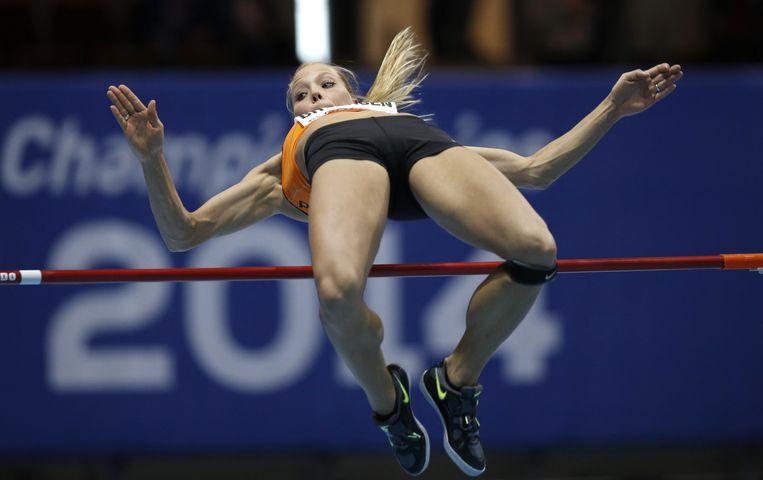Atlete Nadine Broersen op het WK Atletiek Indoor Beeld anp