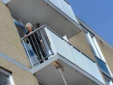 Balkons onderstut voor groot onderhoud