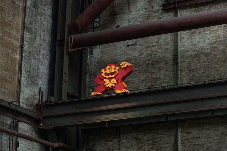 Donkey Kong. Beeld Streetart Frankey